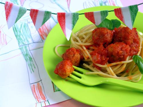 spaghetti con polpette 2pn