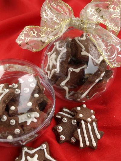 Idee Per Confezionare Biscotti Di Natale.Biscottini Al Cioccolato Decorati Tempodicottura It