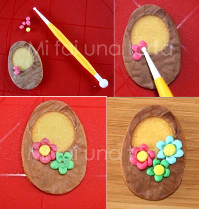 Decorare i biscotti pasquali - Foglio colore coniglietto pasquale ...