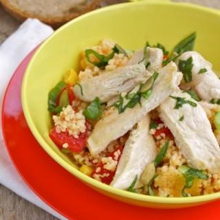 pollo al limone con insalata di cuscus