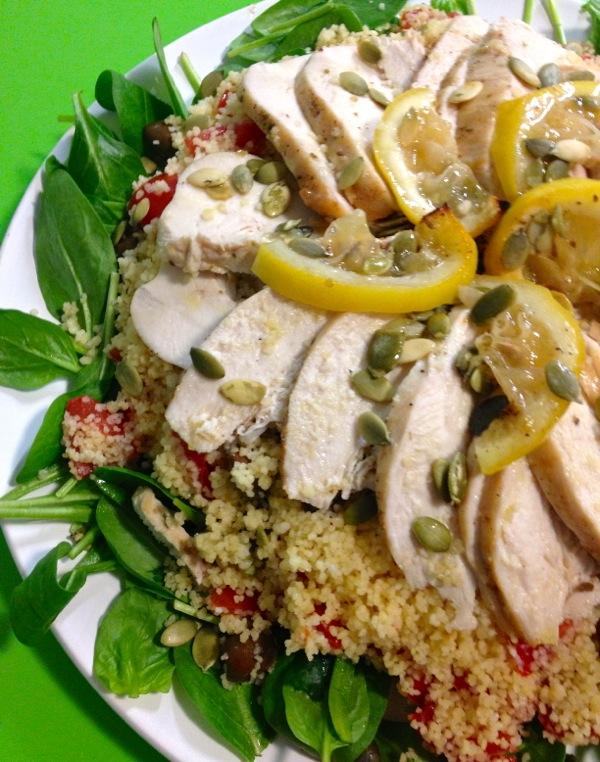 pollo al limone con cous cous e verdure