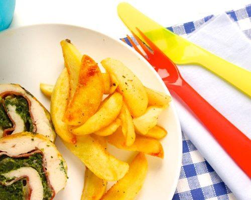 arrosto di pollo con spinaci