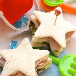 stella di pane con cotto e verdure grigliate