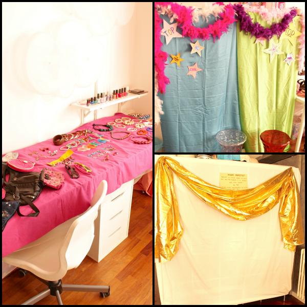 fondali e accessori per festa glamour