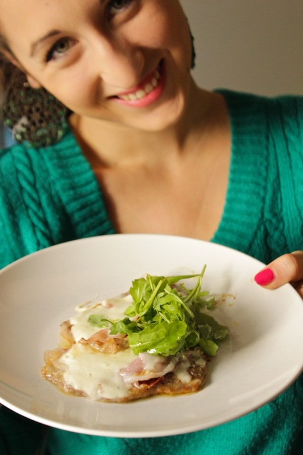 scaloppine speck e rucola