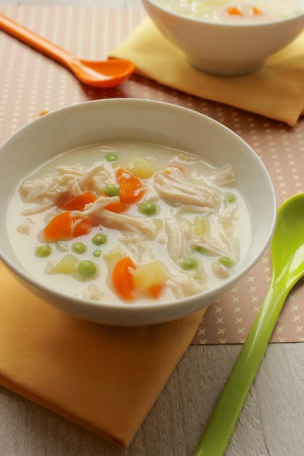 zuppa di pollo cremosa