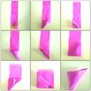 spiegazioni pieghe fagottini a triangolo
