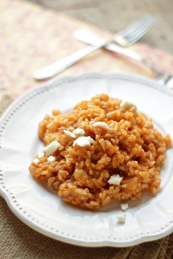 risotto integrale al pomodoro