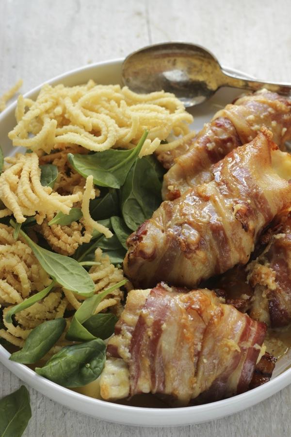 pollo goloso con spaghetti di patate