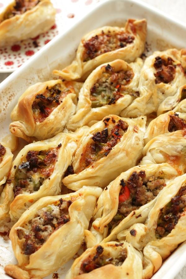 fagottini croccanti con carne e verdure