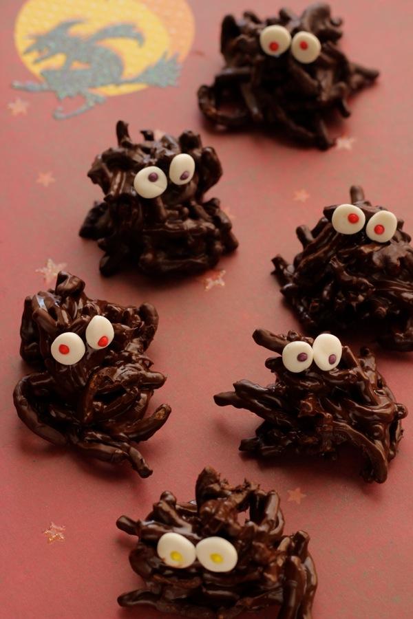 dolcetti pelosi al cioccolato per Halloween