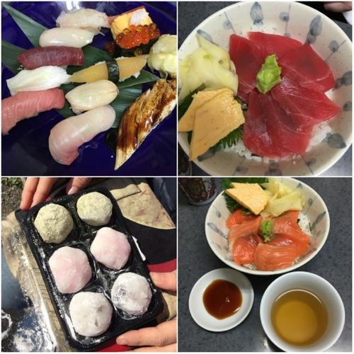 sushi e sachimi al mercato del pesce