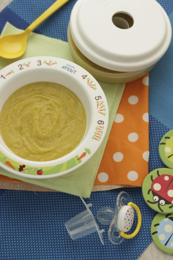 Crema di pollo con patate e piselli con Phlips Avent EasyPappa Plus 4 in 1