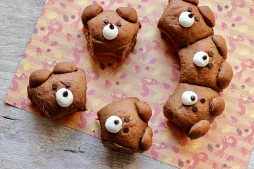 corona di orsetti al cioccolato