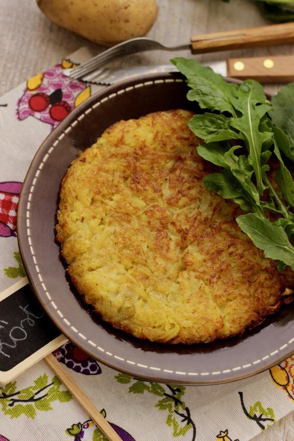 rosti di patate vegetariano