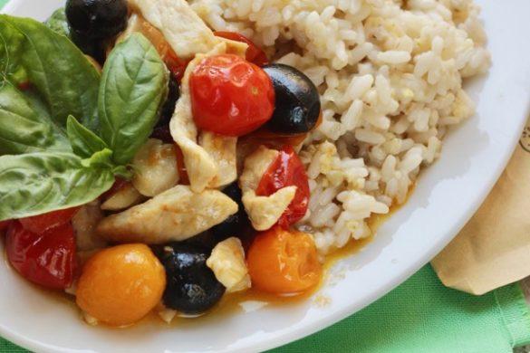 straccetti di pollo alla mediterranea con easycoop