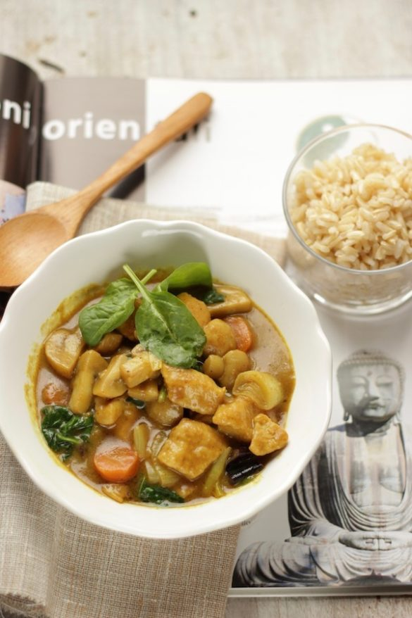 curry di pollo con verdure