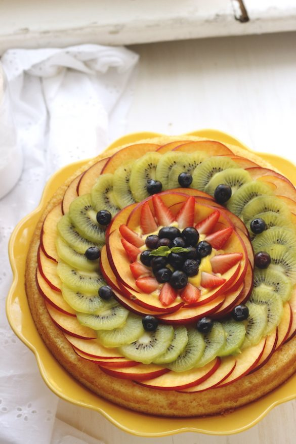 torta morbida alla frutta fresca