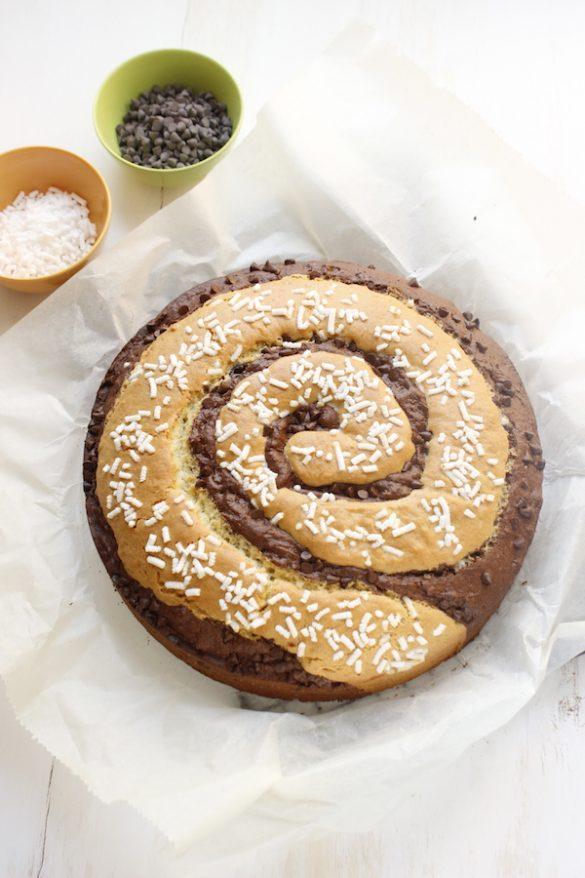 torta a spirale vaniglia e cacao