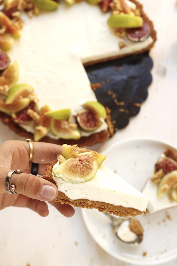 torta crema e fichi